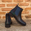CHELSEA BOOT BLACKWATCH SARTORIAL AND NAVY PEBBLE GRAIN