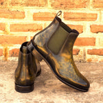 CHELSEA BOOT KHAKI CRUST PATINA
