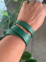 Green Leather Strap bracelet