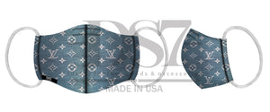 MASK LIGHT DENIM BLUE MONOGRAM LOGO FLOWER