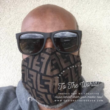 Load image into Gallery viewer, MASK FF LOGO BROWN/BLACK