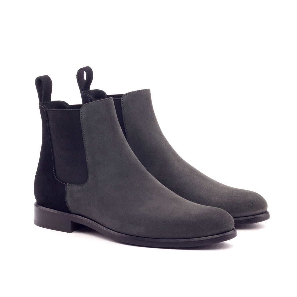 CHELSEA BOOT BLACK AND GREY LUX SUEDE