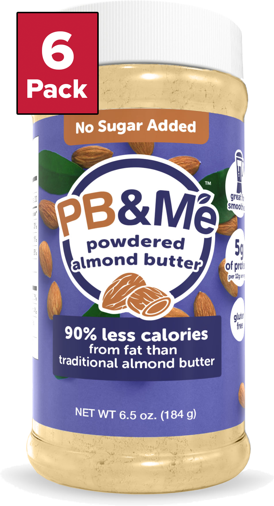 Powdered Almond Butter - No Sugar Added (184g)