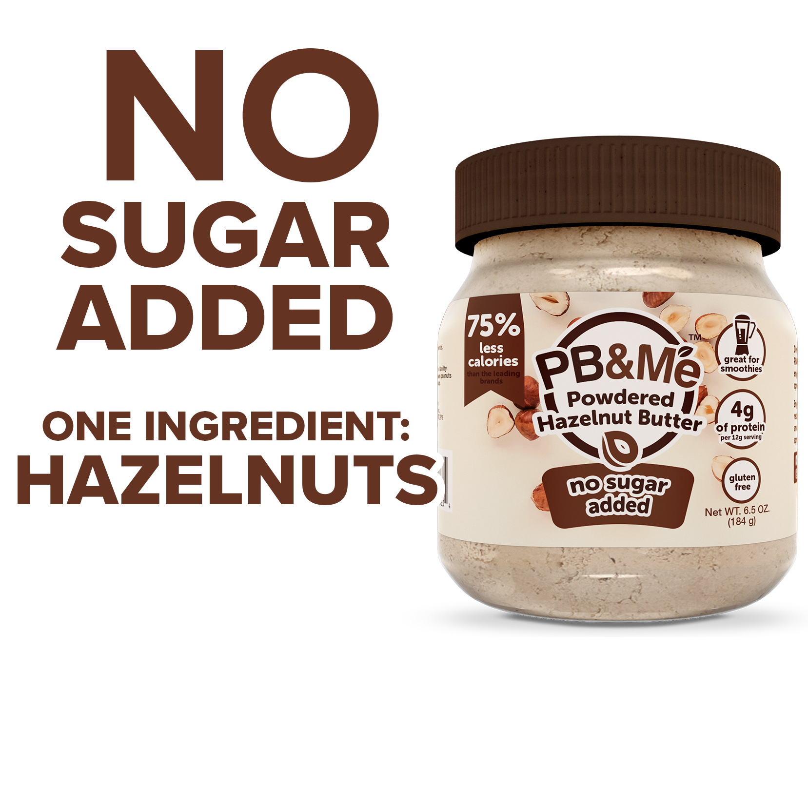 Powdered Hazelnut Butter - No Sugar Added (184g)