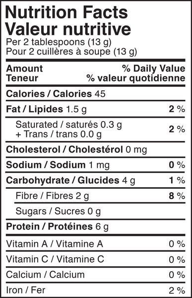 NO SUGAR ADDED, Powdered Peanut Butter, smoothies, PB&Me, nutritional information