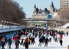 skating on the Ottawa Rideau Canal in winter