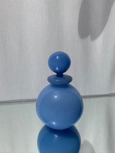 Vintage Blue Milk Glass Perfume Bottle