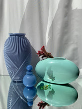 Load image into Gallery viewer, Vintage Blue Milk Glass Perfume Bottle
