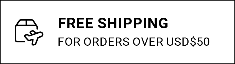 Free Shipping on all orders over USD$50