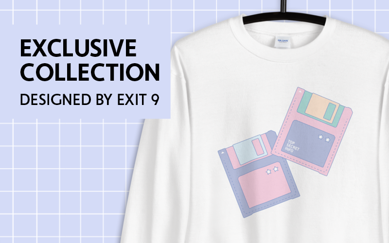 Banner for the exclusive Exit 9 Originals collection, which is designed by Exit 9
