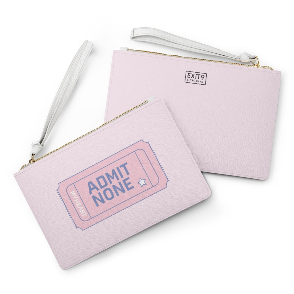 Admit None Vegan Leather Clutch (Pink)