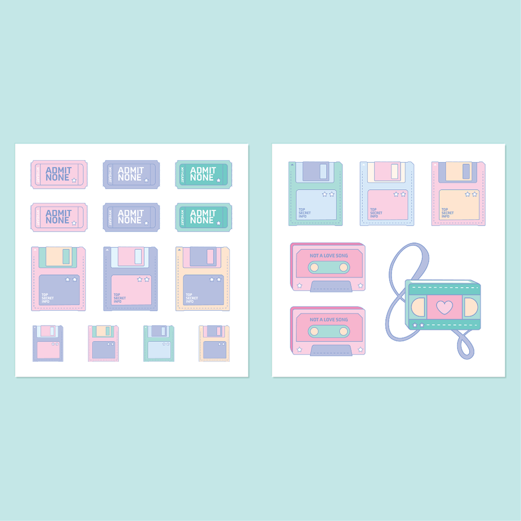 Retro Vibes Sticker Sets
