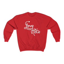 Load image into Gallery viewer, Love Conquers Hate Sweatshirt