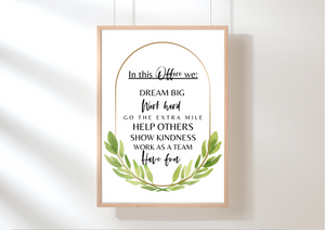 In This Office We.. | Decor Print, Wall Art - Auxano Life