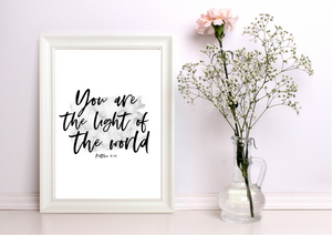 You are the Light of the World | Decor Print - Auxano Life