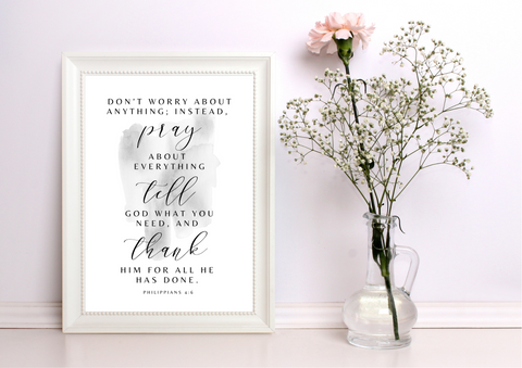 Don't Worry - Philippians 4:6 | Decor Print - Auxano Life