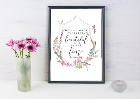 He has Made Everything Beautiful | Decor Print - Auxano Life