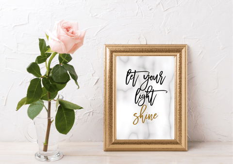 Let Your Light Shine - Decor Print (Gold Foil) - Auxano Life