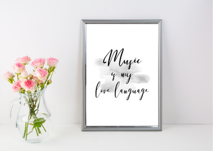 Music is My Love Language | Decor Print - Auxano Life