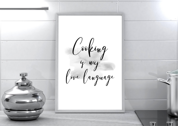 Cooking is My Love Language | Decor Print - Auxano Life