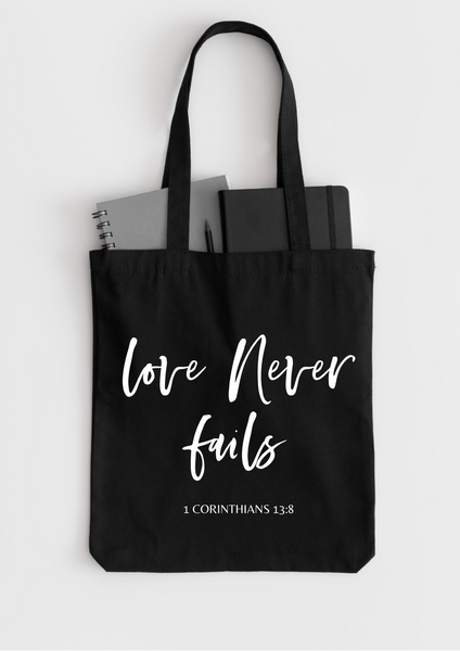Love Never Fails | Tote Bag - Auxano Life