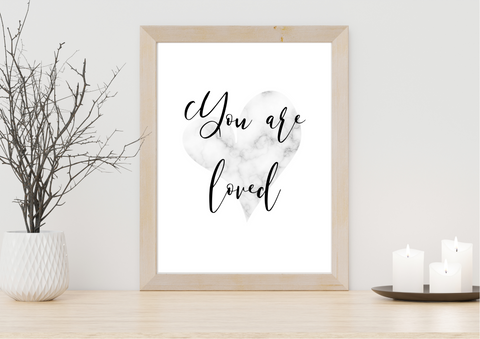 You Are Loved | Decor Print - Auxano Life