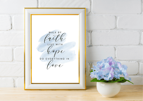 Faith, Hope, Love - Decor Print - Auxano Life