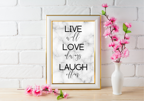 Live Well, Love Always, Laugh Often | Decor Print - Auxano Life