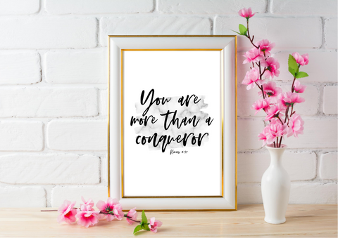 You are More than a Conqueror | Decor Print - Auxano Life