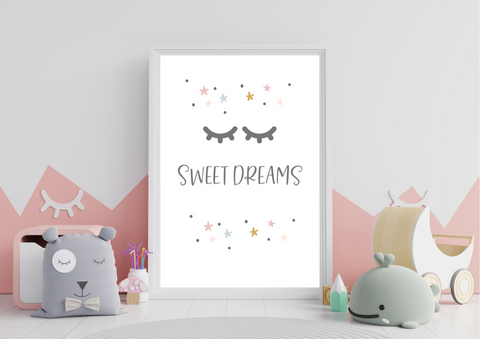 Sweet Dreams | Kids Decor Print - Auxano Life
