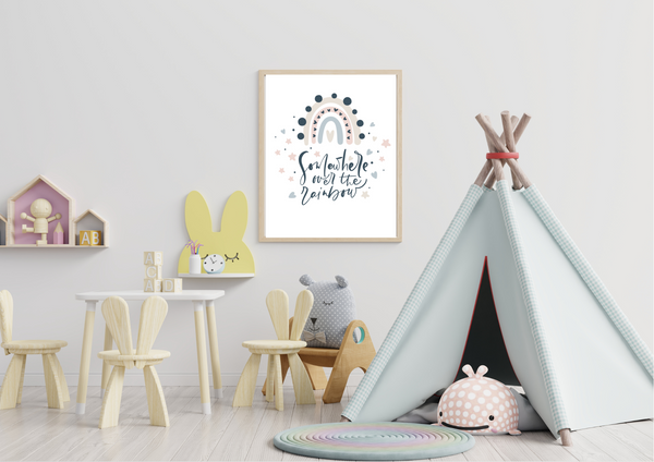 Somewhere Over The Rainbow | Kids Decor Print - Auxano Life