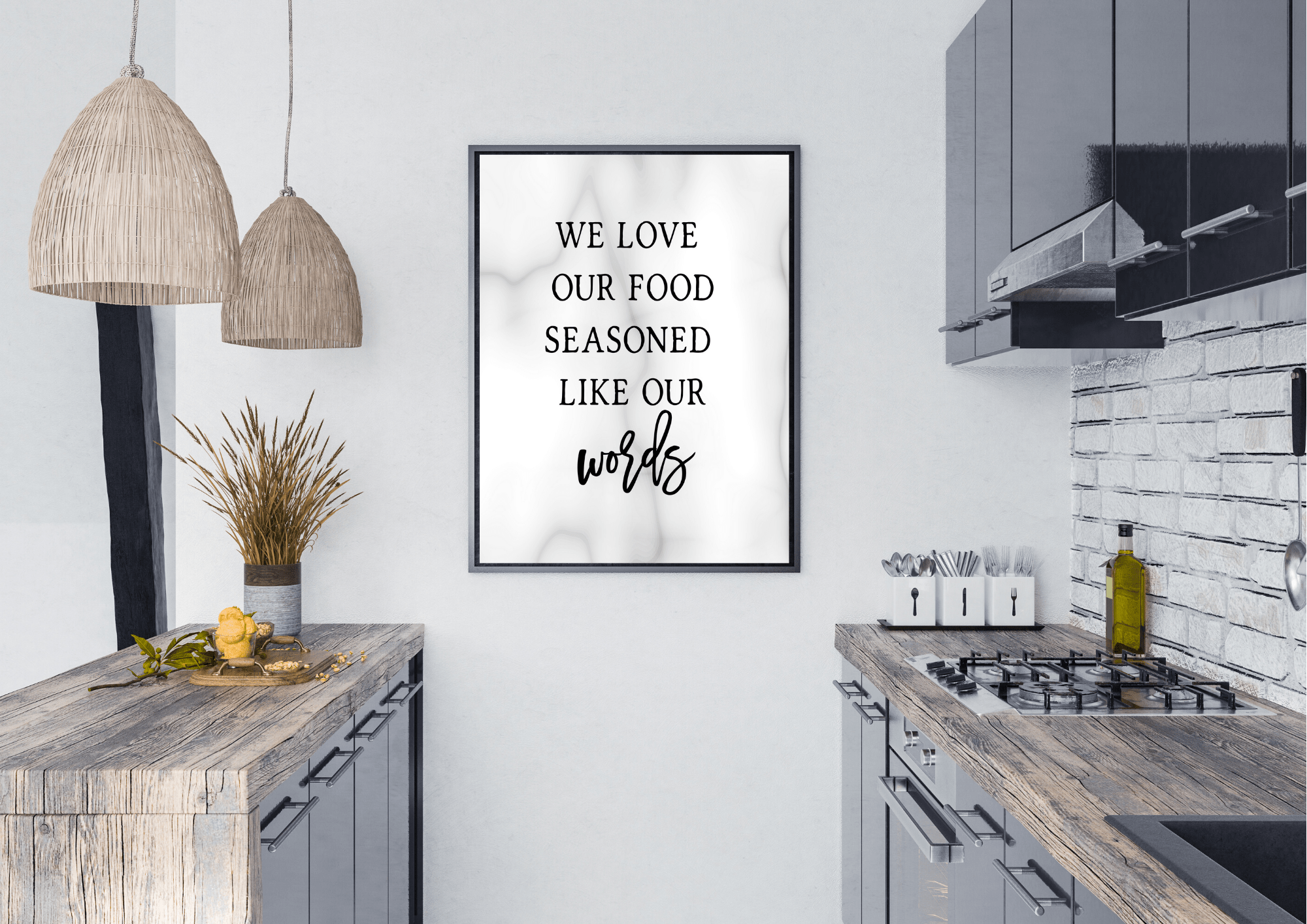 We Love our Food Seasoned Like our Words - Decor Print - Auxano Life