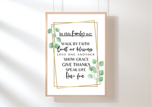 Food is Our Love Language - Decor Print - Auxano Life