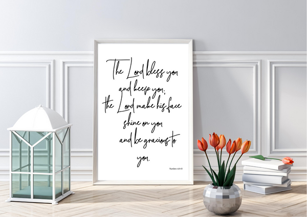 The Blessing | Decor Print, Wall Art - Auxano Life