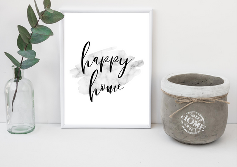 Happy Home | Decor Print, Wall Art - Auxano Life