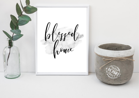 Blessed Home | Decor Print - Auxano Life