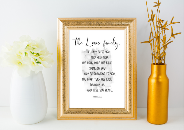 The Personal Blessing | Decor Print - Auxano Life