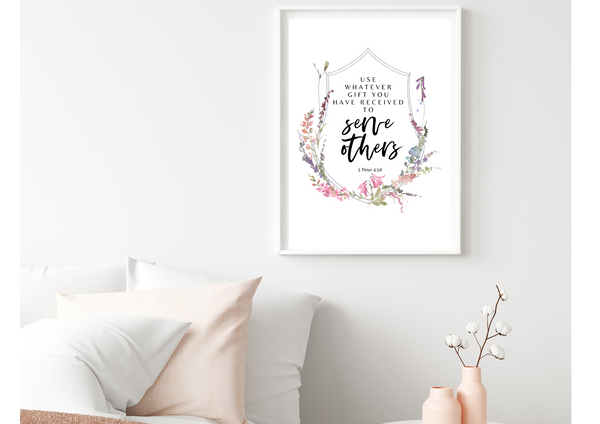 Use Your Gifts to Serve Others | Decor Print, Wall Art - Auxano Life
