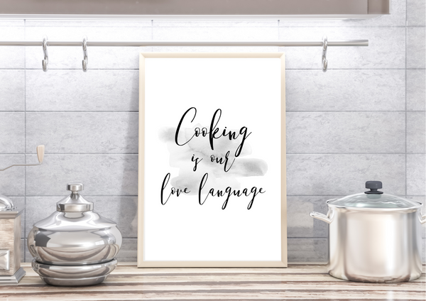 Cooking is My/Our Love Language | Decor Print - Auxano Life