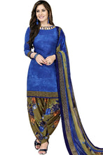 Load image into Gallery viewer, Trendy Blue Printed Dress Material with Dupatta - vezzmart