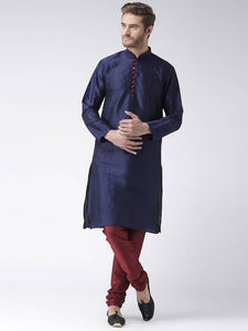 Multicoloured Blended Solid Kurta Sets - vezzmart