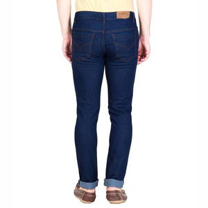 Dark Cotton Spandex Blue Slim Fit Trendy High look Jeans - vezzmart