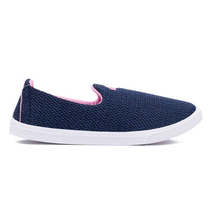 Blue Fabric Casual Shoes for women - vezzmart