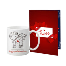 Load image into Gallery viewer, Valentine Special Gift Set Coffee Mug Printed A4 Greeting Card - vezzmart