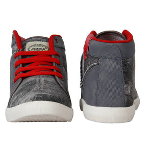 Stylish Canvas Grey Casual Shoes For Men - vezzmart