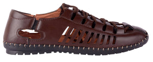 Brown Synethetic Leather Sandals For Men - vezzmart