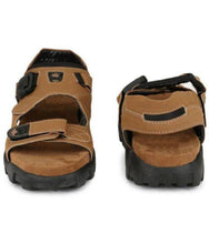 Load image into Gallery viewer, Men's Tan Solid Synthetic Sandal - vezzmart
