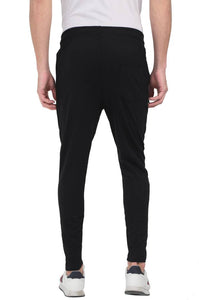 Mens Cotton Fleeze Track Pant - Black - vezzmart