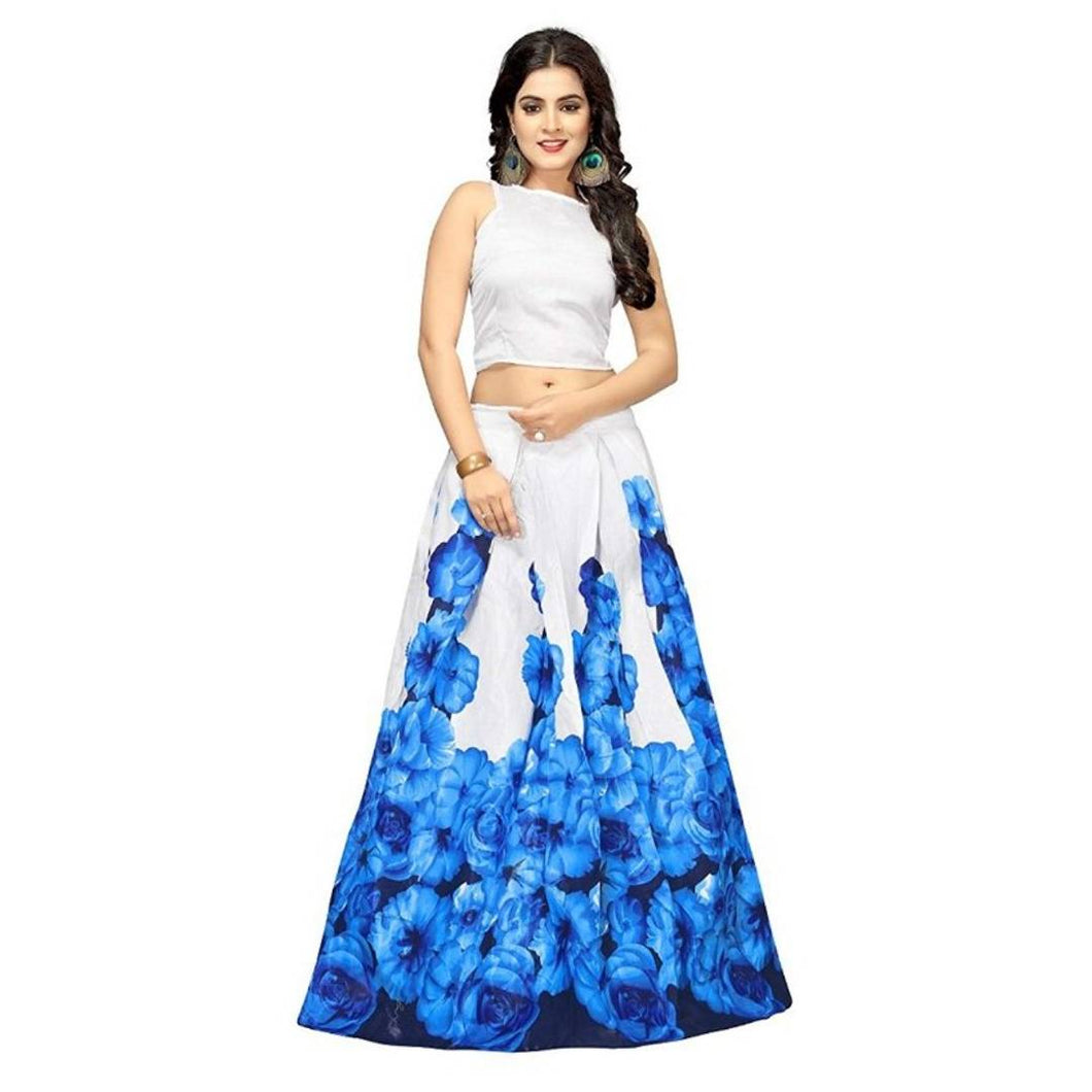 Floral Printed Lehenga For Women's - vezzmart