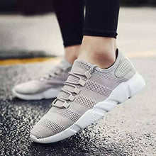 Load image into Gallery viewer, Grey Solid Mesh Sports Shoes for Men's - vezzmart